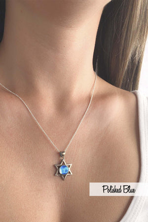 Sterling Silver-Star Pendant-Necklace Charm-Leightworks