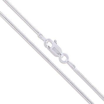 Sterling Silver Snake Chain - 1.2mm-Sterling Silver-Leightworks