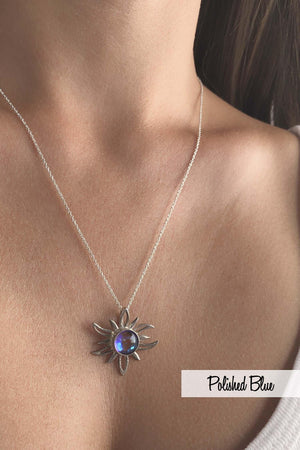 Sterling Silver-Sun Pendant-Necklace Charm-Leightworks