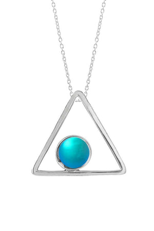 Sterling Silver-Triangle Pendant-[variant]-[color]-Clearance-Leightworks