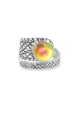 Handmade Sterling Silver-Turtle Ring-Fire-Polished-Leightworks