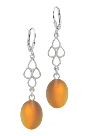 Sterling Silver-Waterfall Ext. Earrings-Fire-Frosted-Leightworks