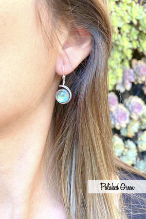 Sterling Silver-Wave Earrings-Leightworks