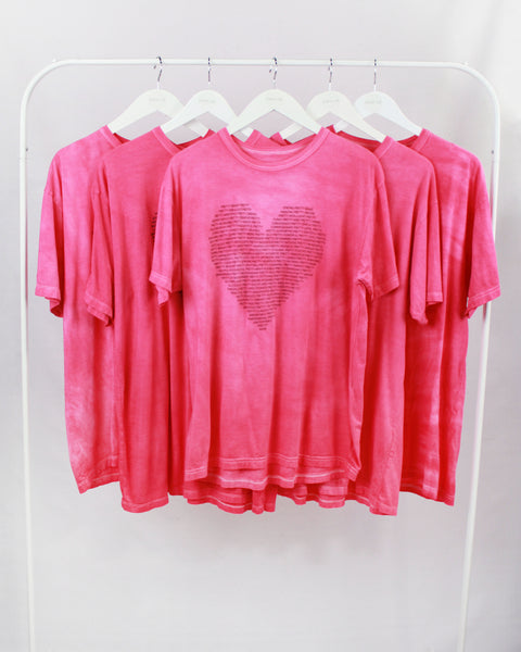 Pretty Project T-Shirt  -Heart -Fuchsia