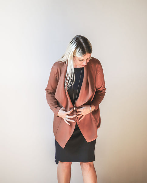 Waterfall Front Casual Blazer