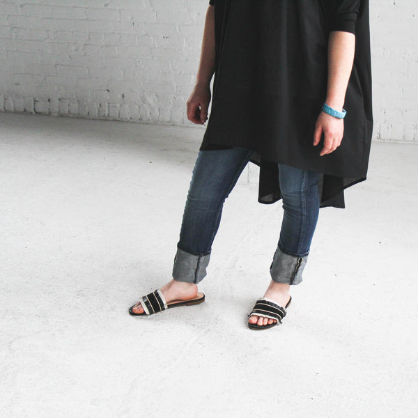 Leah Long Tunic - Black