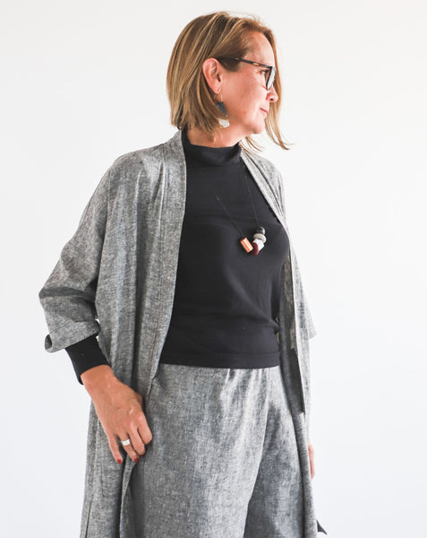 Eva Long Linen Jacket