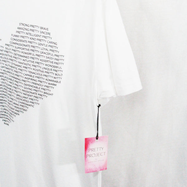 Pretty Project T-Shirt  -Love -White
