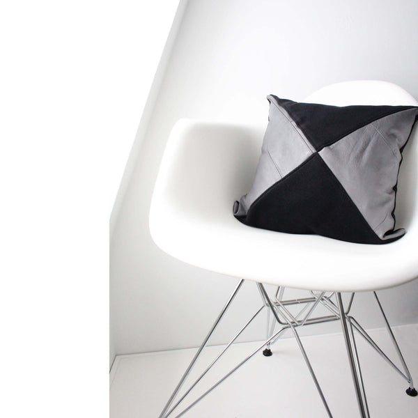 Rachel Pillow Cover -Black & Grey