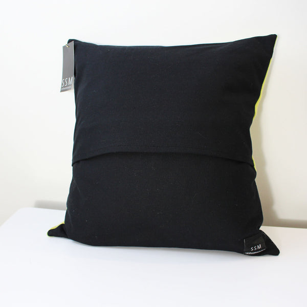 Rachel Pillow Cover - Black & Grey Stripe