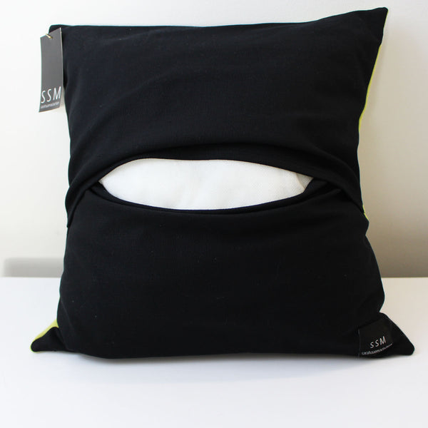 Showing the back of our Pillow Cover and how it goes on the insert