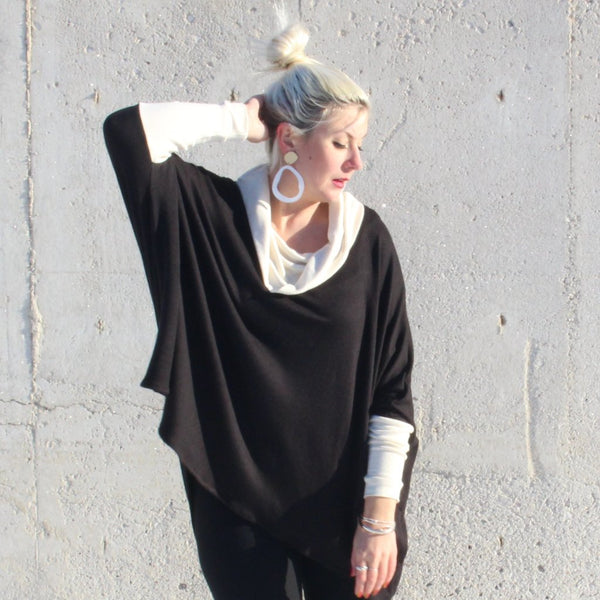Lisa Boxy Sweater - Black & Cream