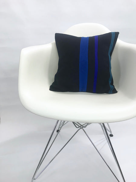 Rachel Pillow Cover -Blue Stripes