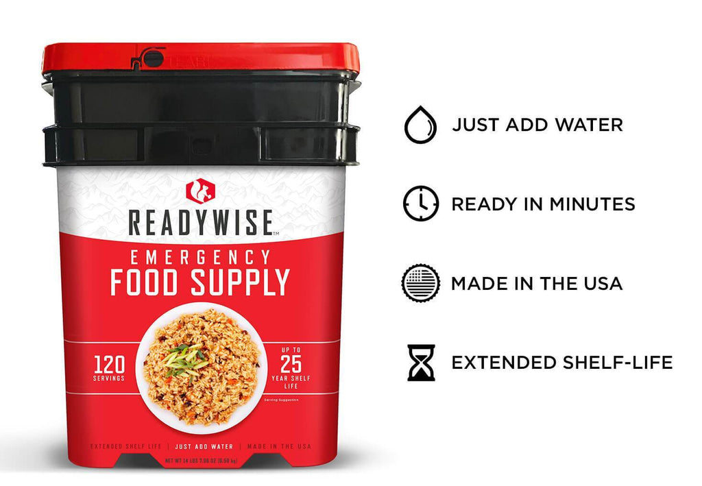 Wise 120 Servings of Emergency Survival Food Entrees -  SALE