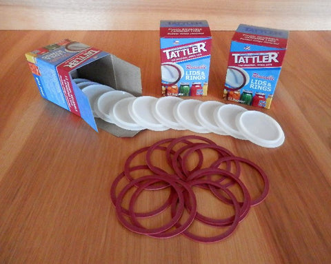 Tattler, canning lids, reusable canning lids