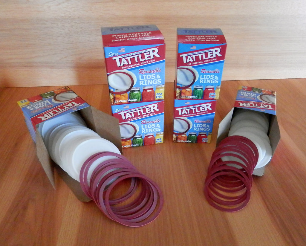 Tattler reusable canning lids, tattler, canning lids