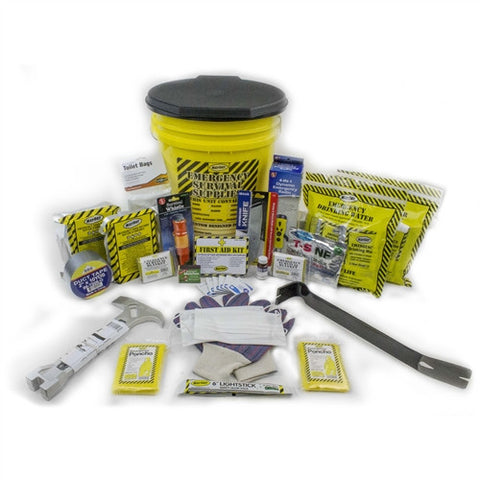 honey bucket kit, mayday, emergency kit