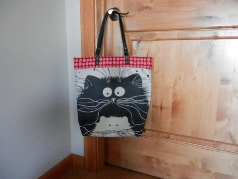 tote bag, hand bag, carry all, shopping bag, cat bag, kitty