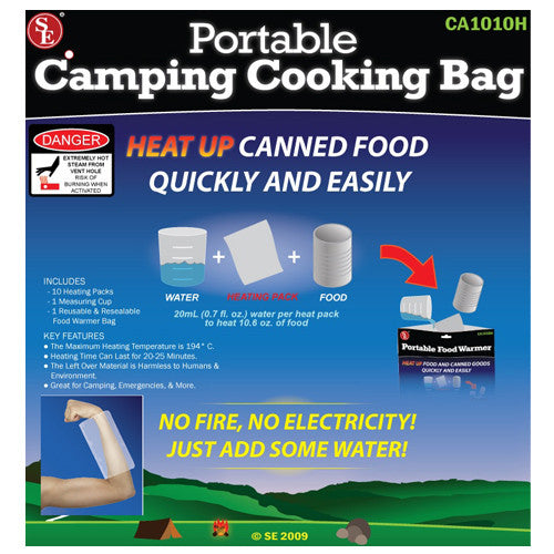 cooking bag, survival food