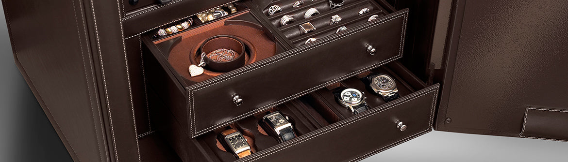 Scatola del Tempo TimeSafe Watch Winder Leather detail