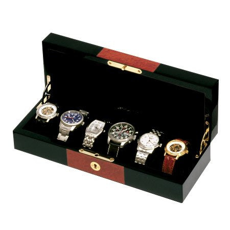 Orbita Zurigo 6-Unit Watch Case In Black/ Burl