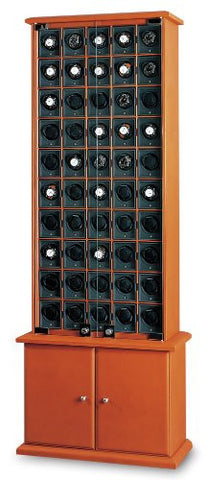 Underwood UN\850 50 Module Watch Winder Cabinet In Leather
