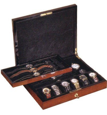 Orbita Zurigo 12-Unit Watch Case In Teak