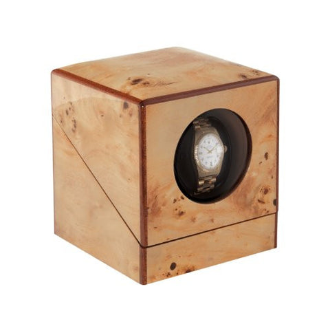 Orbita Privee 1 Watch Winder With Lithium Battery In Poplar/Burl