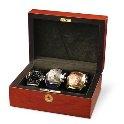 Orbita Zurigo 3 Watch Teak Collector Case