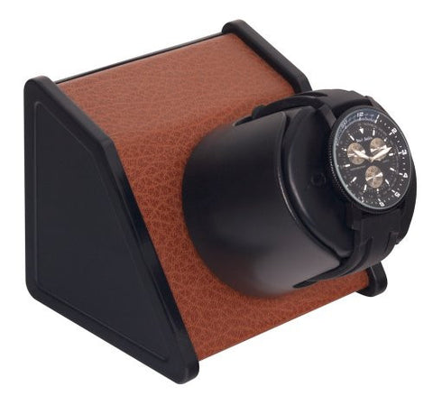 Orbita Sparta Single-Unit Watch Winder in Brown Leatherette