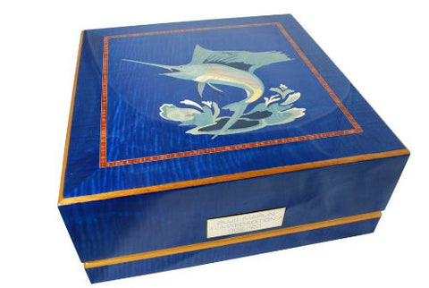 Orbita Giglio Blue Marlin 3 Watch Winder With Inlaid Veneers
