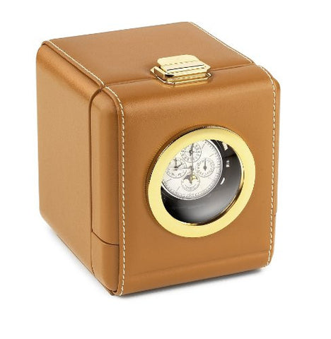 Scatola del Tempo 1RT OBLO Single Leather Programmable Watch Winder