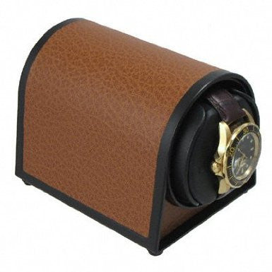 Orbita Sparta Mini Single-Unit Watch Winder in Brown Leatherette
