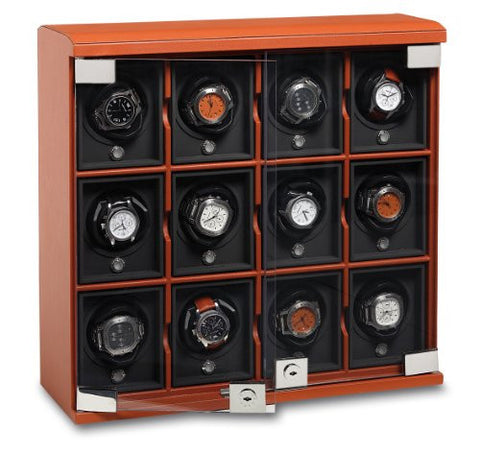 Underwood (London) - 12-Unit Classic Watch Winder in Tan Leather