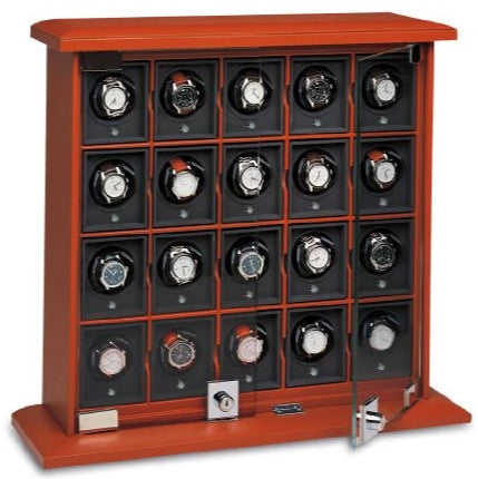 Underwood - 20-Unit Classic Watch Winder in Tan Leather