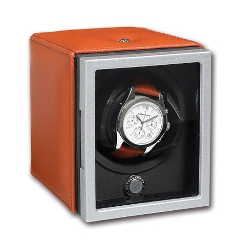 Underwood UN\805 Single Watch Winder Module with Leather panels by