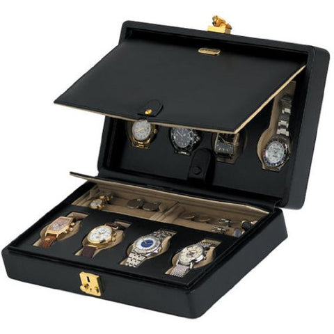 Orbita Verona 8-Unit Watch Case In Leather