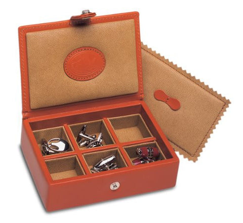 Underwood UN\220 Collectors 6 Pair Travel Cufflinks Box In Leather