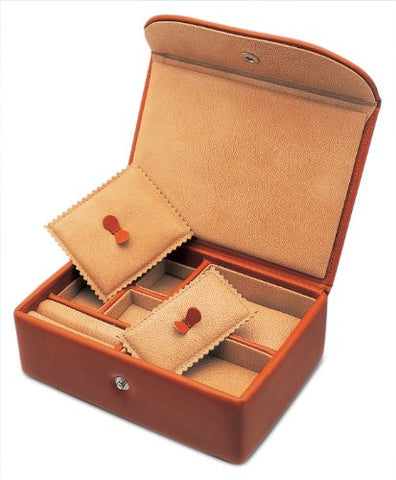 Underwood UN\216 Small Watch & Jewelry Collectors Box In Leather