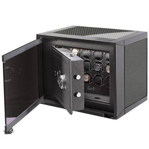 Buben & Zorweg Guardian Safe S-40 Time Mover Watch Winder In Carbon