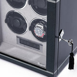Rapport Formula Watch Winder Quad in Carbon W564