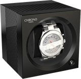 Chronovision 1 Single-Unit Watch Winder in Carbon & Black Silk