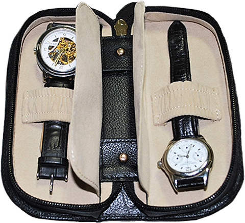 Orbita Verona 2-Unit Watch Case In Leather