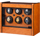 Orbita Avanti 6-Unit Watch Winder In Burlwood