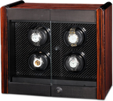 Orbita Avanti 4-Unit Watch Winder In Macassar