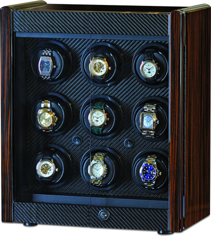 Orbita Avanti 9-Unit Watch Winder In Macassar