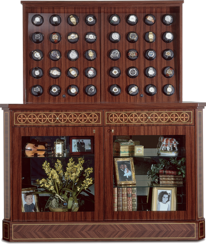 Orbita Bergamo 40-Unit Watch Winder In Mahogany Parquet