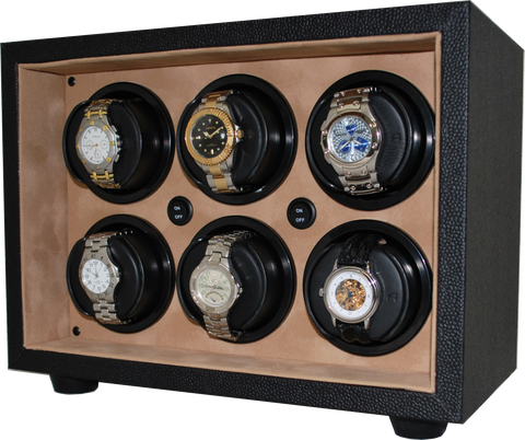 Orbita Insafe 6-Unit Watch Winder In Tan