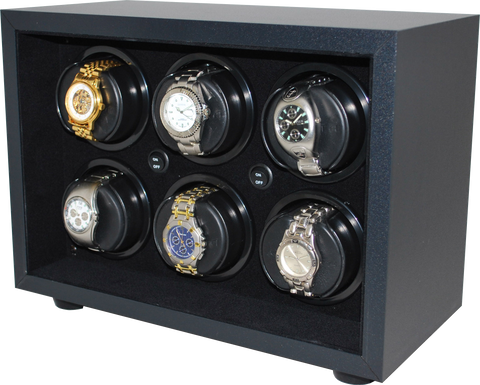 Orbita Insafe 6-Unit Watch Winder In Black