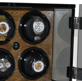 Orbita Milano 6-Unit Watch Winder In Walnut